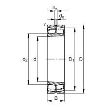 100 mm x 180 mm x 46 mm  FAG 22220-E1-K  Rolamentos autocompensadores de rolos