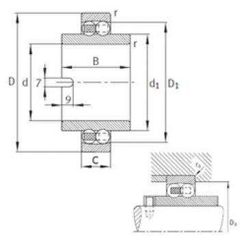 55 mm x 100 mm x 60 mm  FAG 11211-TVH  Rolamentos autocompensadores de esferas