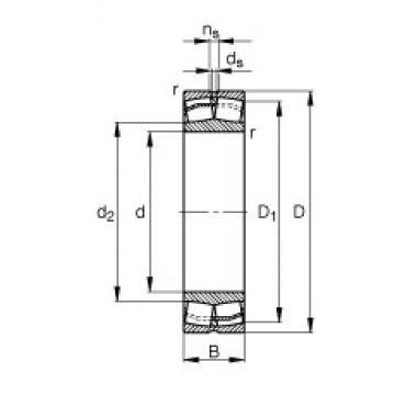 80 mm x 140 mm x 33 mm  FAG 22216-E1  Rolamentos autocompensadores de rolos