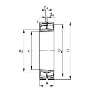 95 mm x 170 mm x 43 mm  FAG 22219-E1-K  Rolamentos autocompensadores de rolos